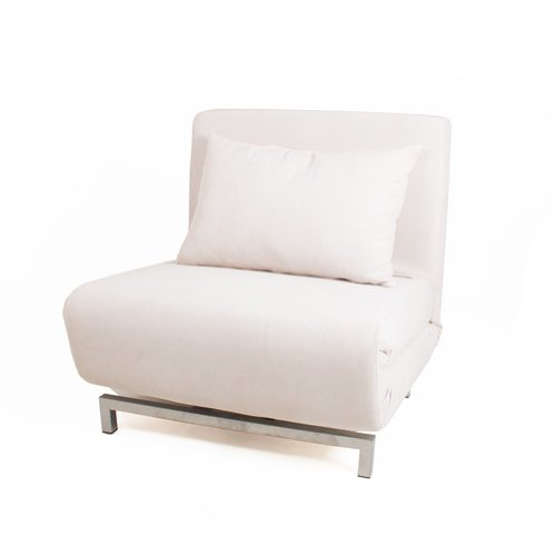 Delicieux Cream Futon Single Sofa Chair Bed Metal Frame 360 Swivel Adjustable  Recline: Amazon.co.uk: Kitchen U0026 Home