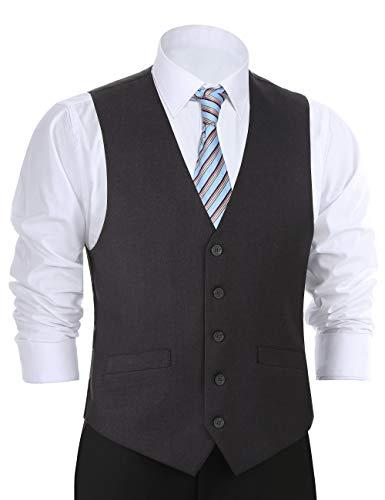 Chama Men's Formal Classic Fit Business Dress Suit