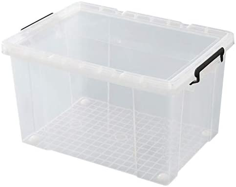 Caja almacenaje Large caja de almacenamiento transparente, caja de almacenamiento de plástico, caja de almacenamiento de juguete 40 litros (40L - 100L caja transparente) cajas almacenaje plastico: Amazon.es: Hogar