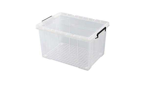 Caja almacenaje Large caja de almacenamiento transparente, caja de ...