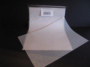 25 Sheets A4 100gsm Printed Vellum White - Baroque Design AM495 Jackdaw Express