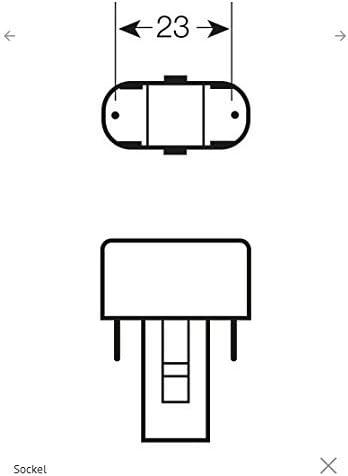 10x Osram DULUX S Kompaktleuchtstofflampe G23 7W//830 G23-137mm - Warmton
