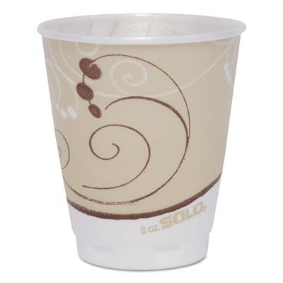 SOLO Cup Company Symphony Design Trophy Foam Hot/Cold Drink Cups, 8oz