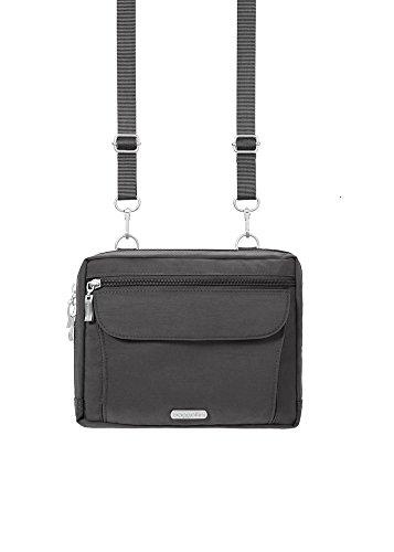 Baggallini Wander Crossbody Travel Bag, Charcoal, One Size