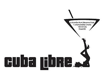 Amazon.com: Wall Decal Cuba Libre, Color: Black, 39x61: Kitchen & Dining