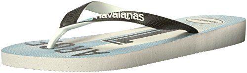 Team Flip Flops (Havaianas Women's Teams Iii Flip Flop Sandal,White/Black/White, 37/38 BR(7-8 M US Women's / 6-7 M US Men's))