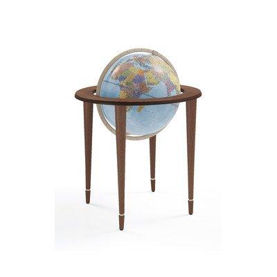 Zoffoli Amerigo Vespucci Blue Floor Globe w Chestnut Wood Stand by Zoffoli
