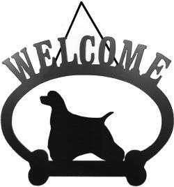 Welcome Sign - American Cocker Spaniel