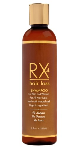 RX 4 Hair Loss Shampoo for Hair Loss Prevention in Men/Women. Natural, Organic Treatment.Stop Hair Loss By Blocking DHT the main cause of Alopecia. Guaranteed. Free Hair Loss - Reviews Good Rx
