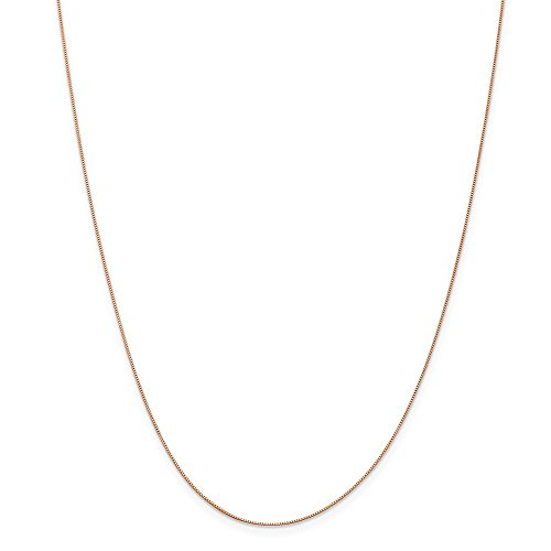 Top 10 Jewelry Gift Leslie 14K Rose Gold .5 mm Baby Box Chain by Jewelry Brothers Chain-necklaces