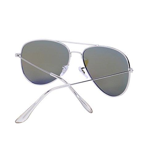 de para Mujer Antirreflejante Sol y Hombre Aviador Espejo Polarizadas el Azul UV400 Gafas Lente Caso Efecto QIXU con Xqw8FEx