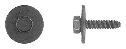 25mm Steel Bolt with Hex Washer Head Type and Black Phosphate Finish