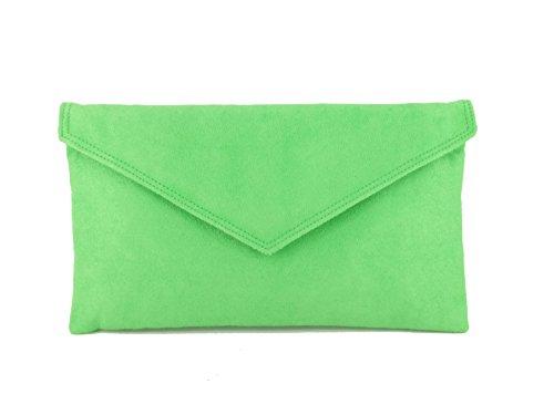 Apple Sac Enveloppe Pochette Grass Green À Daim Faux Main xfqZwtzPfY