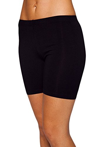 Womens Combed Cotton Basics 5 Inch Bike Short by In Touch, Black - X-Large