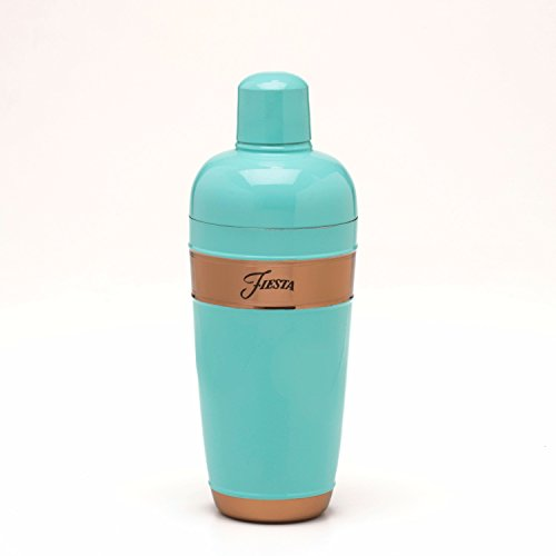 Fiesta 24 oz Cocktail Shaker with Copper Accents, Turquoise