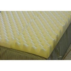 "Foam Eggcrate Mattress Overlay - Size Queen - 56"" x 72"" x 2"""