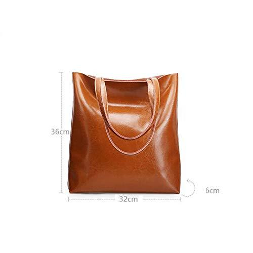 Sacs à Tott Capacité à Sac Main BAILIANG Brown Bandoulière Grande Femme Simple pW68Iqffw
