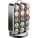 Mind Reader EMSSPNR3BLK The Vortex 30-Cup Coffee Pod Carousel, Compact, Single-Serve