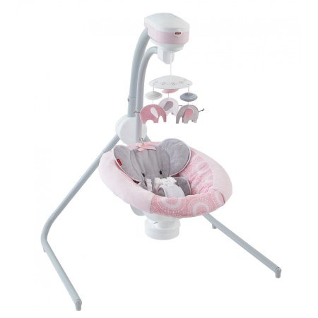 Fisher-Price Blush Safari Cradle 'n Swing by Fisher-Price
