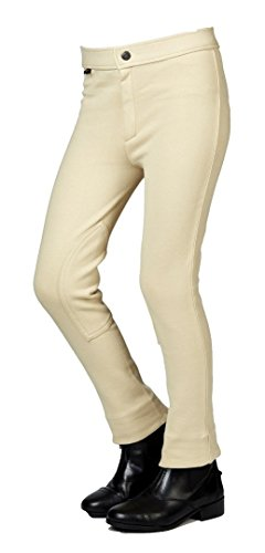 Saxon Childs Adjustable Waist Jodhpur 6 Beige