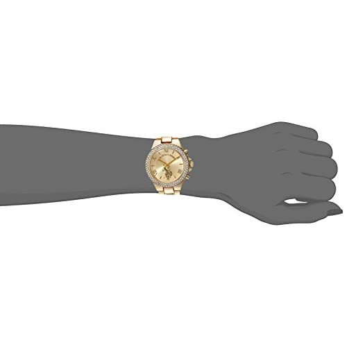 U.S. Polo Assn. Women's Gold-Tone Analog-Quartz Watch with Alloy Strap, 8 (Model: USC40032)