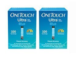 One Touch Ultra Blue Test Strips 200 Count by 100 Count, OneTouch Ultra Test Strips, Blue, 100 Count (Image #1)