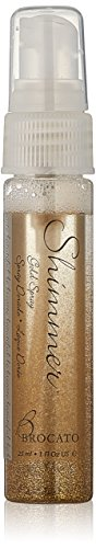 Brocato Hair and Body Shimmer Spray: Add a Subtle Sparkle to Your Hair, Skin or Clothes with this Glittery Spritz Mist Spray - Sparkly Glitter Travel Hairspray Safe for Skin and Fabric - Gold, 1 Oz