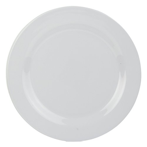 Home Basics Melamine Dinnerware (Dinner Plate, White)