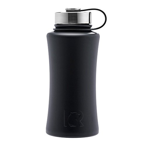 RTIC 480 Double Wall Vacuum Insulated Bottle, 32 oz, Black