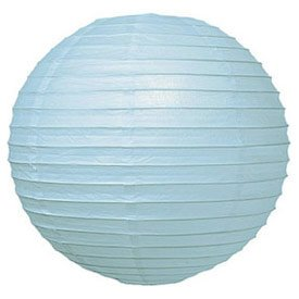 Parallel Ribbed Ice 12-Inch Round Paper Lantern