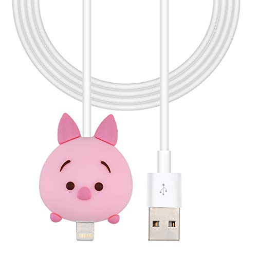 Cute Pig Charging Cable for iPad 2 3 4 5 6 Mini Air,for Apple iPhone X,XR,Xs Max/8/7/6/6S Plus,SE 5,5S,5C,Funny Kawaii Cartoon Fast USB Quick Data Charger Cord for Kids,Girls,Boys,Teens (iOS) (Pig Ipod 4 Case)