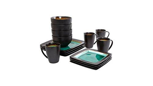 Ocean Oasis 16-Piece Dinnerware Set, - Transferware Black