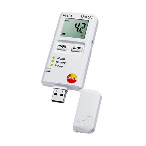 Testo 184 G1 (0572 1846 01) Temperature, Humidity and Shock USB Transport Data Logger