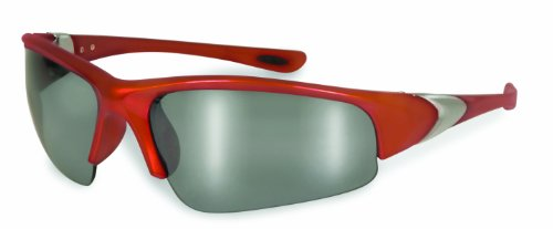 RG M 95157 Unisex Safety Glasses with Orange Frames and Silver Mirror Lenses ()