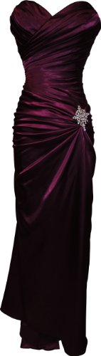PacificPlex Women's Strapless Long Satin Bandage Gown