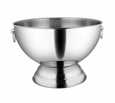 Winco SPB-35 Stainless Steel Punch Bowl with Handles, 3.5-Gallon by Winco
