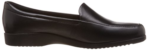 Clarks Georgia - Zapatillas de cuero para mujer negro negro One Size Fits All Black Leather