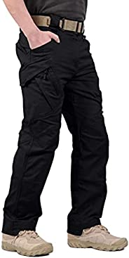 AoMoon Men's Tactical Pants Waterproof Ripstop Lightweight Outdoor Hiking Cargo P