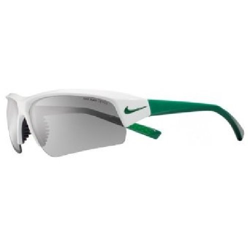 Nike Skylon Ace Pro Sunglasses, White/Pine Green, Grey with Silver Flash Lens ()