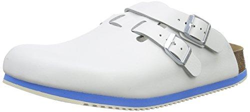 Birkenstock Professional KAY - Zuecos de cuero mujer blanco - blanco