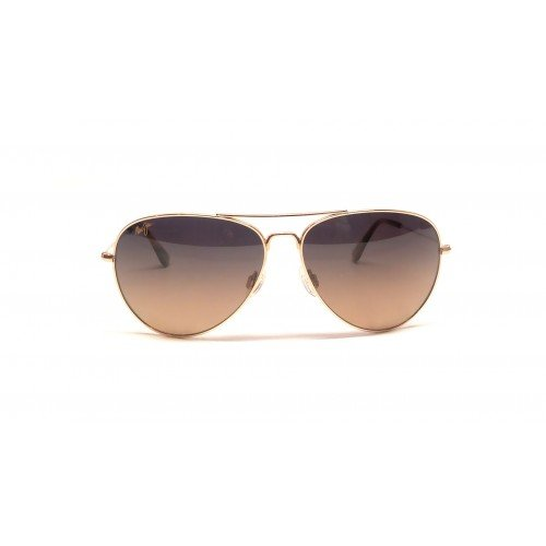 Maui Jim Mavericks Polarized Sunglasses Gold / HCL Bronze One - Men Aviators Jim Maui