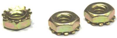 1/4-20 Hex Keps Nuts / Steel / Zinc Yellow / 2,000 Pc. Carton