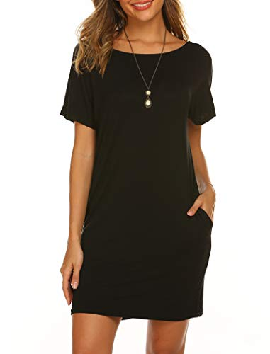 Halife Cross Criss Beach Dress Cover Up, Womens Open Back Sexy Mini Dress Black XL