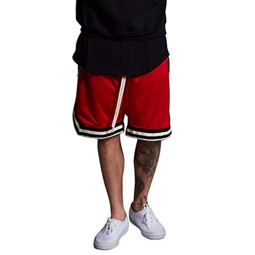 Nevera Men Summer Vintage Retro Design Basketball Sports Running Shorts Red