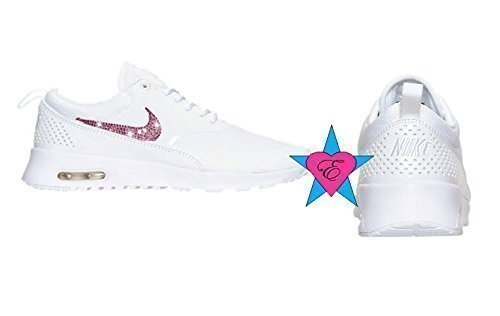 AB Sparkle Nike Air Max Thea White Sneakers by Eshays