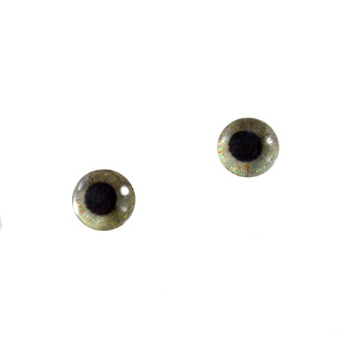 6mm Small Eagle Glass Eyes Doll Irises for Art Polymer Clay Taxidermy (Glass Eyes Toys Dolls)