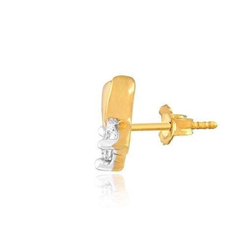 Giantti Diamant pour femme Boucles d'oreilles à tige (0.116CT, qualité HSI, Gh-colour)