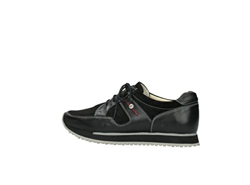 Wolky E Walk Grey Stretch comb 20000 black leather
