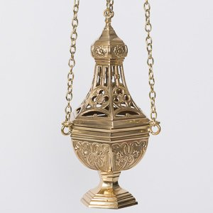 Solid Brass European Style Church Censer - Thurible - Incenser (CCG-212) by Classical Church Goods