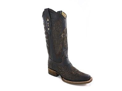 Corral Boots , Bottes Western et de Cowboy Femme Marron